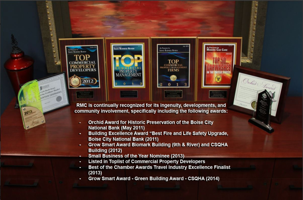 RMC is recognized for its ingenuity in the following awards